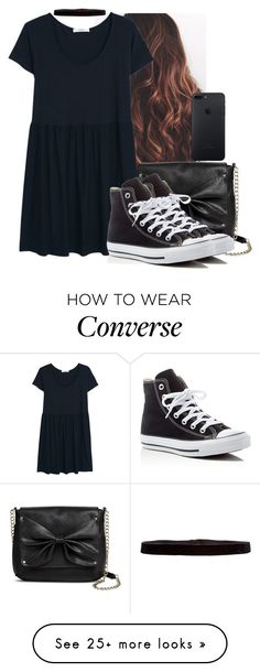 """""""Untitled #5066"""" by hannahmcpherson12 on Polyvore featuring Sam & Libby, MANGO, Steve Madden and Converse"""
