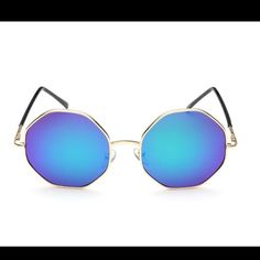 New Fashion Hexagon Mirrored Sunglasses Bohemian Brand new. Good Quality. Perfect for sunny days. Trendy. Accessories Sunglasses