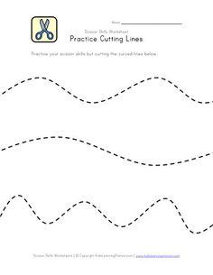 Scissor Skill Worksheets
