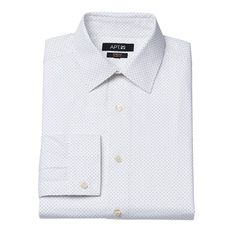 Men's Apt. 9® Slim-Fit Stretch Spread-Collar Dress Shirt, Size: 17.5-32/33, White