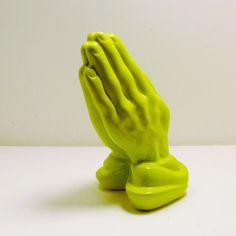 ceramic praying hands figurine  //  upcycled home decor by nashpop, $18.00