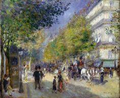 Lès grands boulevards. Pierre Auguste Renoir ( 1841.1919 ).