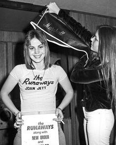 Joan Jett and Lita Ford 1976