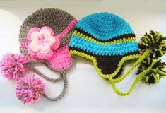 Madison Earflap Hat for Boys and Girls - Newborn to Man- Pdf Pattern