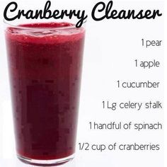 Another great juice recipe! Cranberry Cleanser, just a few ingredients and by the way....it's delicious!