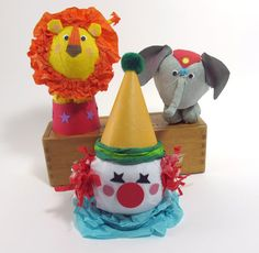 Circus Surprise Balls  Set of 3 by WatermelonParty on Etsy