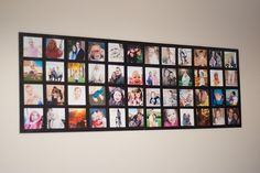 Make your own photo collage with foam core boards, prints, and Mod Podge.