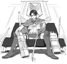duchess-sin:  Rivaille [Shingeki no Kyojin Attack on Titan] http://www.pixiv.net/member_illust.php?mode=mediumillust_id=35757578
