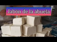Jabón de la abuela//reciclando - YouTube Youtube, Facial Tissue, Home Made Soap, Cleaning Recipes, Clean Mattress, Cleaning Hacks, Cork Art, Youtubers
