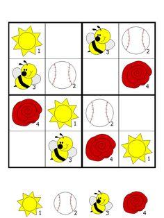 okul öncesi sudoku Free Preschool, Preschool Worksheets, Preschool Learning, Teaching Kids, Sudoku Puzzles, Logic Puzzles, Math For Kids, Fun Math, Infant Activities