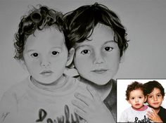 "37 Gostos, 4 Comentários - Agostini's Art (@artagostini) no Instagram: ""Little Brothers #brothers #littlebrothers #siblings #kids #pencil #pencildrawing #pencildraw…"""