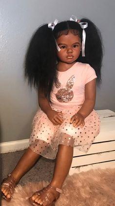 Reborn Babies Black, Reborn Child, Reborn Toddler Girl, Black Baby Dolls, Black Babies, Real Looking Baby Dolls, Life Like Baby Dolls, Life Like Babies, Custom Reborn Dolls