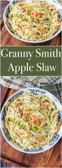 Granny Smith Apple Slaw for the #SecretRecipeClub. #recipe #grannysmithapple #apple #apples #vegetable #vegetables #cabbage #slaw #carrot