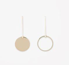 Drop Circle earrings by COS