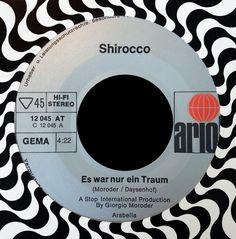 shirocco - es war nur ein traum (prod. by giorgio moroder, german vocal version of sample in dj shadow's organ donor) /// listen to it on http://radioactive.myl2mr.com /// plattenkreisel - circular record shelf, dj booth, atomic cafe, panatomic, records, kidd lando, vinyl, raregroove, crate digging, crate digger, record collection, record collector, cover art, label scan