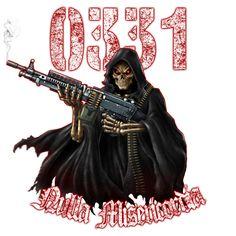 US Marine 0331 Machine Gunner Grim Reaper Shirt