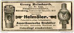 Original-Werbung/ Anzeige 1905 - HELMÖLER / AMERIKANISCHE DREHÖLER / BEISSBARTH METALLWAAREN NÜRNBERG -  ca. 100 x 40 mm