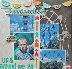 December *All of the Lights* Layouts | Scraptastic Club by DT @Melanie Bauer Stanczyk