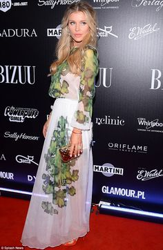 Coming a Krupa: Joanna stunned on the red carpet as she returned to her native Poland for a fashion show on Wednesday