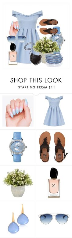 """""""Untitled 14"""" by alenss ❤ liked on Polyvore featuring Chi Chi, Audemars Piguet, Billabong, Nearly Natural, Armani Beauty, Bucherer, Christian Dior, Sif Jakobs Jewellery and STELLA McCARTNEY"""