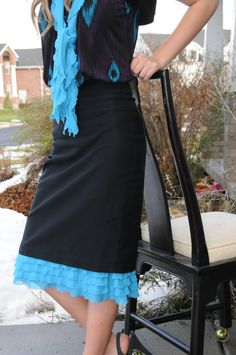 Lexi Layers...super cute way of having your skirt be a bit longer and modest! Perfect for sister missionaries!