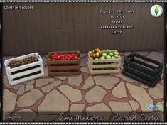 SrslySims | Sims Medieval Harvest Crates