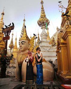 leogryphs, cinthe, burmese buddhist art, burma buddhism, spiritual temples southeast asia. lacarmina and yukiro.  More from Shwedagon Pagoda in Yangon, Myanmar on La Carmina blog, winner of best blogger of the year award!  http://www.lacarmina.com/blog/2017/02/shwedagon-pagoda-yangon-golden-temple-myanmar/