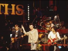The Smiths live on The Tube (Channel 4/UK) on March 16, 1984 ― photo by Pete Cronin.