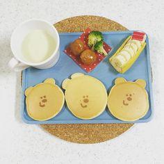 minakacha_n* *+*+*+ きなこパン 手作りミートボール ブロッコリー さつまいもポタージュ バナナ *+*+*+ * #離乳食 #幼児食 #こどもごはん #2歳 #2歳2ヶ月 #朝食 #朝ごはん #おうちごはん #キッズごはん #キッズプレート #デコごはん #顔ごはん #かおごはん #くまさんパンケーキ #お絵かきパンケーキ #パンケーキアート 久々の #朝ごパン でした #babyfood #kidsfood #instafood #breakfast #kaumo #kurashiru #ママスタ #お返事前にごめんなさい