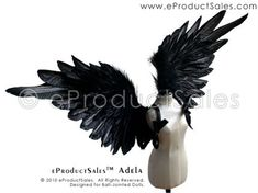 eProductSales black feather ADELA Angel Wings