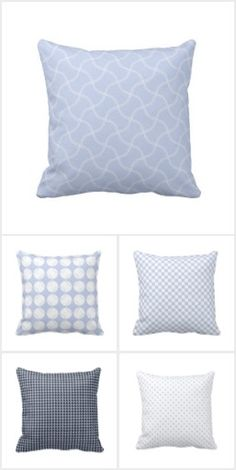 Alice Blue Patterned Pillows