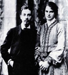 Rainer Maria RILKE with his young wife, sculptress Clara WESTHOFF, whom he abandoned after 16 years of married life, Rainer Maria Rilke, Paula Modersohn Becker, Hermann Hesse, Maria Callas, Writers And Poets, People Of Interest, Cool Books, Book Writer, The Orator