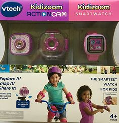 Includes the Kidizoom Smartwatch and the Kidizoom Action Cam by VTech Takes photos and videos using fun effects Recommended for children 4+