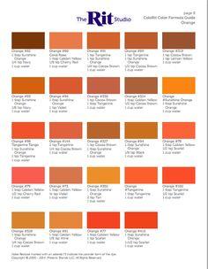 Orange Things orange b dye