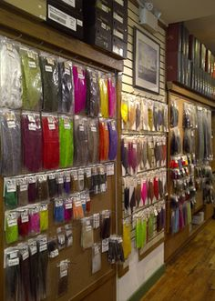 Fly Tying Materials- One of everything would be nice. Two of everything would be better! Fly Fishing Equipment, Fly Tying Materials, Fly Shop, Fly Tying Patterns, Fishing Knots, Store Displays, Bench, Outdoors, Camping