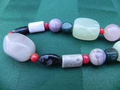 Vintage Jewelry Polished Semiprecious Stone Bead by CalahansCloset