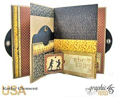 #Simply G45 Autumn Time Folio Tutorial A Place in Time ABC Primer by Kathy Clement Product by Graphic 45.