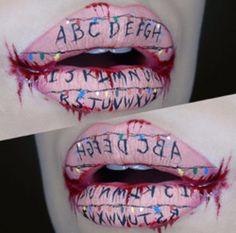 Stranger  things inspired lips