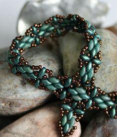 Petite Harmony Band Superduo Bracelet Bead by ReggiesCreations