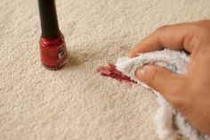 Very Enchanting: How to remove your nail polish stains.