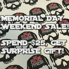 HURRY! ONLY THE FIRST 50 ORDERS STILL NOT HIT THAT FIRST 50!! And we have decided that since we love honor and appreciate all our service men and women who laid down their lives for freedom that we would have a big pre-summer apparel sale!  Here's the deal.... First 50 orders of AT LEAST $25.00 will get a free item in their shipped goods! Lots of old stuff to move! So you may get lucky.  #RED #RememberEveryoneDeployed  ________________________________________  WWW.555FITNESS.ORG  #fire…