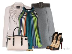"""""""Professional"""" by ksims-1 ❤ liked on Polyvore featuring Chicwish, Dorothy Perkins, Emporio Armani, M Missoni, Christian Louboutin, Aspinal of London, Emily & Ashley, women's clothing, women and female"""