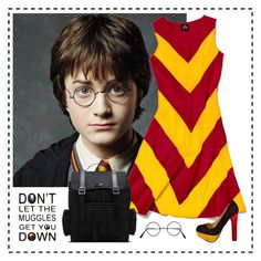 """""""Harriet Potter"""" by ravenlux ❤ liked on Polyvore featuring Slater Zorn, Luichiny, Dr. Martens, women's clothing, women, female, woman, misses and juniors"""