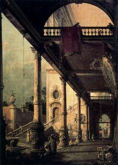 Canaletto: Capricho arquitectónico, 1765