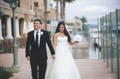 Elegant Purple and White Wedding in Newport Beach