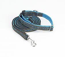 Beautiful, classic Joli Peacock dog collar and leash