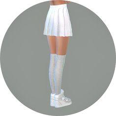 Real pleats mini skirt V1 single color at TSR • Sims 4 Updates