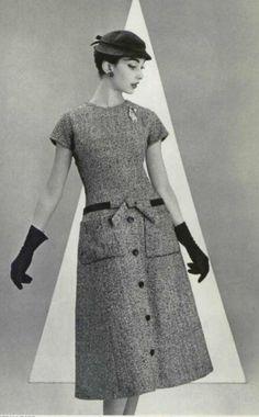 1955 - Christian Dior 'A' line dress