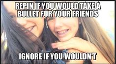 My Bff for life I would do it for her. Comment if u would do it for ur Bff and what is there name. Bff Quotes, Best Friend Quotes, Friendship Quotes, Funny Quotes, Funny Memes, Friend Sayings, Quotes Girls, Heart Quotes, Jokes