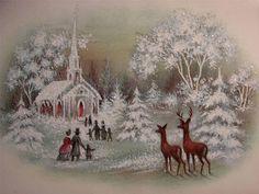 VINTAGE THE JOY AND PEACE OF CHRISTMAS!! CHRISTMAS GREETING CARD
